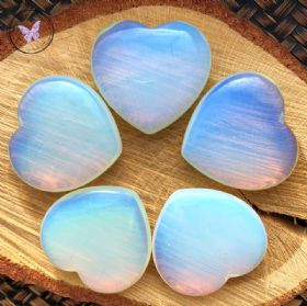 Opalite Glass Heart